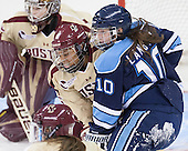 Kaliya Johnson (BC - 6), Jillian Langtry (Maine - 10) - The Boston College Eagles defeated the visiting University of Maine Black Bears 5 to 1 on Sunday, October 6, 2013, in their Hockey East season opener at Kelley Rink in Conte Forum in Chestnut Hill, Massachusetts.