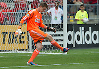 15 September 2012: Philadelphia Union goalkeeper Zac MacMath #18 in action during an MLS game between the Philadelphia Union and Toronto FC at BMO Field in Toronto, Ontario..The game ended in a 1-1 draw..