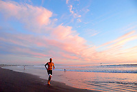 Santa Monica Beach amid the sunset on Friday, October 29, 2010.
