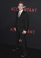 "HOLLYWOOD, CA - OCTOBER 10:  Jake Presley at the Los Angeles world premiere of ""The Accountant"" at TCL Chinese Theater on October 10, 2016 in Hollywood, California. Credit: mpi991/MediaPunch"