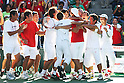 Japan National Team Group (JPN), September 18, 2011 - Tennis : Davis Cup 2011, World Group play-off match between Kei Nishikori 3-0 Vishnu Vardhan (IND) at Ariake Colosseum, Tokyo, Japan. (Photo by Daiju Kitamura/AFLO SPORT) [1045]