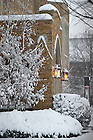 Jan. 22, 2013; Hurley entrance after a snowfall...Photo by Matt Cashore/University of Notre Dame