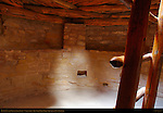 Restored Kiva, Ladder to Entrance, Pilasters supporting Roof, Spruce Tree House Cliff Dwelling, Anasazi Hisatsinom Ancestral Pueblo Site, Chapin Mesa, Mesa Verde National Park, Colorado