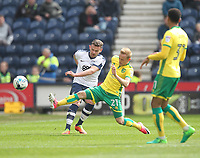 \Preston North End's Marnick Vermijl battles with  Norwich City's Alex Pritchard<br /> <br /> Photographer Mick Walker/CameraSport<br /> <br /> The EFL Sky Bet Championship - Preston North End v Norwich City - Monday 17th April 2017 - Deepdale - Preston<br /> <br /> World Copyright &copy; 2017 CameraSport. All rights reserved. 43 Linden Ave. Countesthorpe. Leicester. England. LE8 5PG - Tel: +44 (0) 116 277 4147 - admin@camerasport.com - www.camerasport.com