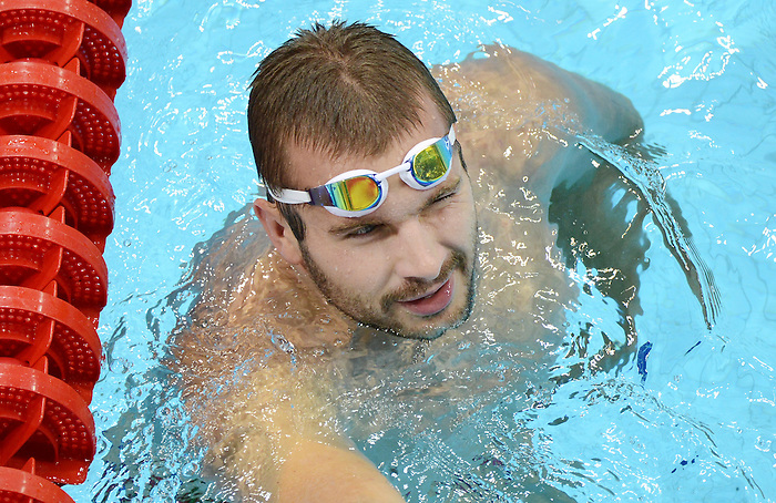 LONDON, ENGLAND – 08/24/2012: Michael Heath of the Canadian Swim Team during a training session at the London 2012 Paralympic Games at The Aquatic Centre. (Photo by Matthew Murnaghan/Canadian Paralympic Committee)