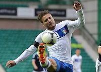 Italy U21 Ciro Immobile controls the ball