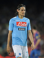FUSSBALL  INTERNATIONAL   SAISON 2011/2012   22.08.2010 Gamper Cup FC Barcelona - SSC Neapel Edinson Cavani (Napoli)
