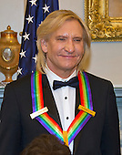 Joe Walsh of the rock band &quot;The Eagles,&quot; one of the five recipients of the 39th Annual Kennedy Center Honors pose for a group photo following a dinner hosted by United States Secretary of State John F. Kerry in their honor at the U.S. Department of State in Washington, D.C. on Saturday, December 3, 2016.  The 2016 honorees are: Argentine pianist Martha Argerich; rock band the Eagles; screen and stage actor Al Pacino; gospel and blues singer Mavis Staples; and musician James Taylor.<br /> Credit: Ron Sachs / Pool via CNP