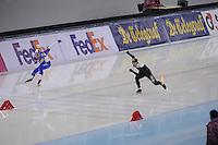 SPEEDSKATING: SOCHI: Adler Arena, 24-03-2013, Essent ISU World Championship Single Distances, Day 4, 500m Men, Mika Poutala (FIN), Gilmore Junio (CAN), © Martin de Jong