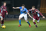 St Johnstone v Stenhousemuir&hellip;21.01.17  McDiarmid Park  Scottish Cup<br />Blair Alston is fouled by Ciaran Summers<br />Picture by Graeme Hart.<br />Copyright Perthshire Picture Agency<br />Tel: 01738 623350  Mobile: 07990 594431