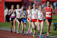 International athletics at Cardiff International stadium, Cardiff, South Wales - Tuesday 15th July 2014<br /> <br /> The Womens 3000m race. Won by Elinor Kirk of Wales(1)<br /> <br /> <br /> Photo by Jeff Thomas Photography