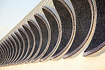 Detail on Umbracle, The Arts and Science City by Calatrava, Valencia, Spain