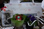 Legendary French singer Serge Gainsbourg's grave in Montparnasse Cemetery, Paris.