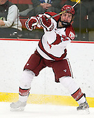 Max Everson (Harvard - 44) - The Harvard University Crimson defeated the visiting Bentley University Falcons 5-0 on Saturday, October 27, 2012, at Bright Hockey Center in Boston, Massachusetts.