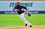 8 March 2010: Washington Nationals' shortstop Cristian Guzman in action during a Spring Training game against the Florida Marlins at Space Coast Stadium in Viera, Florida. The Marlins defeated the Nationals 12-2 in Grapefruit League action. Mandatory Credit: Ed Wolfstein Photo