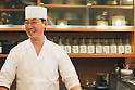 Tokyo, Japan - Japanese Sushi Chef, Nogami Shinji, established his own Sushi restaurant in 2001 called &quot;Nogami&quot; in the Hacchobori district of Tokyo. He started his career 25 years ago and continues to master the culinary craft to make the perfect sushi. His father, also a sushi chef, and his son who is currently in training to become a sushi chef shows illustrate how the art of making sushi has been passed down through generations. Nogami's day begins in the very early morning hours when he selects fish at the Tsukiji market. Choosing the best fish is considered the most important part of his work and he makes sure that he always has about 30 different varieties from which to serve. His restaurant is open late until 10pm and many regulars stay even later so Nogami will usually take an afternoon sleep break between 2pm-5pm when the restaurant is closed. ....Nogami-san's hobby is also fishing and he lives in the Tokyo Bay area so can do this in his free time. He usually releases what he catches though as he is worried that the Tokyo Bay water is not so clean. His son trains, works and sleeps at a different restaurant which is normal for a junior. As he improves his technique he will start to help more in his father's restaurant and eventually take over. There are no exams or text books for sushi chefs so this learning is all based on experience. Nogami's wife also helps out in the restaurant when she has time when their young daughter is at school.....Nogami often serves non-Japanese customers and he is surprised that &quot;They can eat anything and they often use heaps of wasabi&quot;. He is proud of his &quot;Aritsugu&quot; knife which is worth about $700 and his most important tool. ....Nogami-san is worried that since the great March 11 earthquake and tsunami, the cost of fish has soared. (Photo by Yosuke Tanaka/AFLO)