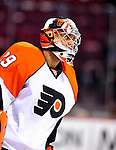 7 December 2009: Philadelphia Flyers' goaltender Ray Emery warms up prior to a game against the Montreal Canadiens at the Bell Centre in Montreal, Quebec, Canada. The Canadiens defeated the Flyers 3-1. Mandatory Credit: Ed Wolfstein Photo