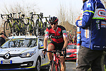 Martin Elmiger (SUI) BMC Racing Team climbs Oude Kwaremont during the 60th edition of the Record Bank E3 Harelbeke 2017, Flanders, Belgium. 24th March 2017.<br /> Picture: Eoin Clarke | Cyclefile<br /> <br /> <br /> All photos usage must carry mandatory copyright credit (&copy; Cyclefile | Eoin Clarke)