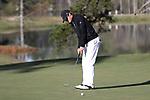 KANNAPOLIS, NC - APRIL 09: South Carolina's Will Miles putts on the 9th green. The third round of the Irish Creek Intercollegiate Men's Golf Tournament was held on April 9, 2017, at the The Club at Irish Creek in Kannapolis, NC.