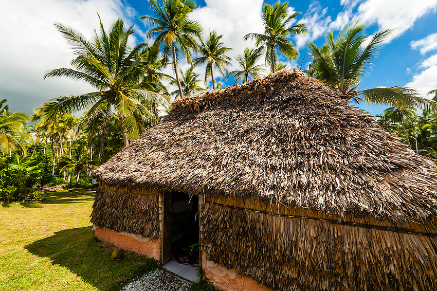 Thatched hut, Roh Seday Home Stay, North Bay, island of Mare, Loyalty Islands, New Caledonia
