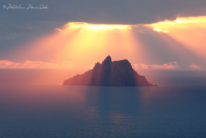 Skellig Michael Blessing<br /> <br /> Sunset at Skellig Michael, County Kerry, Ireland