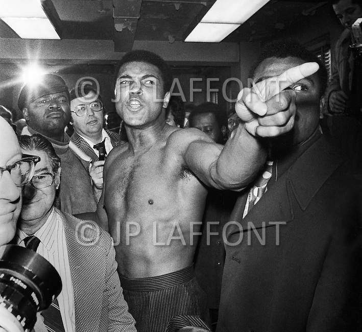 Jan 23, 1974, New York CIty, New York - Madison Square Garden: Just before the second match revenge, Ali beat Frazier this time.