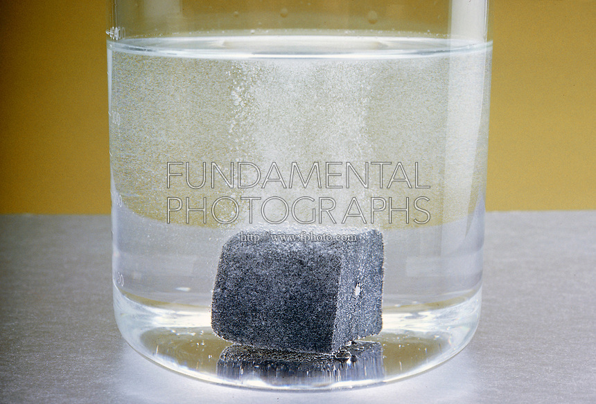 CALCIUM METAL REACTS SLOWLY WITH WATER<br />