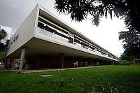 Belo Horizonte_MG, Brasil...Escola Estadual Governador Milton Campos (Estadual Central) projetado Oscar Niemeyer em Belo Horizonte, Minas Gerais...Estate School Governador Milton Campos (Estadual Central) designed by Oscar Niemeyer in Belo Horizonte, Minas Gerais...Foto: EMMANUEL PINHEIRO  / NITRO