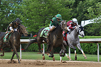 HOT SPRINGS, AR - April 14: Ever So Clever #12, with jockey Luis Contreras aboard, overtakes Chanel's Legacy #1 to win the Fantasy Stakes at Oaklawn Park on April 14, 2017 in Hot Springs, AR. (Photo by Ciara Bowen/Eclipse Sportswire/Getty Images)