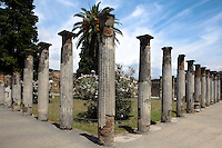 Colonnade at the House of the Faun, 2nd century BC, Pompeii, the largest (3,000 square meters) and one of the most magnificent houses in Pompeii