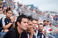 New York Red Bulls head coach Mike Petke watches his team before a Major League Soccer game at PPL Park in Chester, PA.  Philadelphia defeated New York, 3-0.