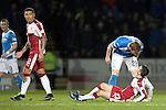 St Johnstone v Rangers&hellip;28.12.16     McDiarmid Park    SPFL<br />Liam Craig has a go at Jason Holt<br />Picture by Graeme Hart.<br />Copyright Perthshire Picture Agency<br />Tel: 01738 623350  Mobile: 07990 594431