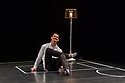 London, UK. 29.03.2017. Sadler's Wells presents WILD CARD: DAN DAW in the Lilian Baylis Studio. Wild Card is a chance to see work by a new generation of dance makers curating a series of special evenings.<br /> <br /> Dance maker and performer Dan Daw curates an evening of collaborations exploring the notions of &lsquo;success&rsquo; and &lsquo;failure&rsquo;, highlighting the role of the audience&rsquo;s perception in distinguishing the two.<br /> <br /> Alongside a collaboration specially made for the evening by dance artists Lucy Suggate and Hannah Buckley, Dan has invited performer Keren Rosenberg and British performance and visual artist Graham Adey to present their new work &quot;Gender Fuck[er]&quot;. Dan performs his new solo &quot;On One Condition&quot;,  also conceived by Graham Adey. Picture shows:  Dan Daw, in ON ONE CONDITION. Photograph &copy; Jane Hobson.