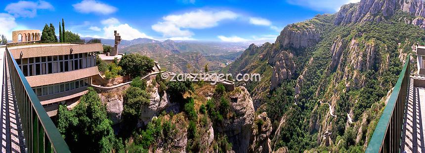 Barcelona Spain,  Benedictine Monk retreat Montserrat CGI Backgrounds, ,Beautiful Background