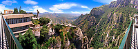 Barcelona Spain,  Benedictine Monk retreat Montserrat CGI Backgrounds, ,Beautiful Background