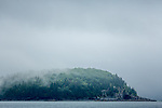 A foggy morning on Frenchman Bay in Bar Harbor, Maine, USA