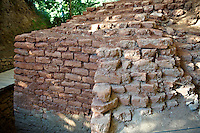 Original foundation stones  of the fortification wall and towers of Troia II & III  circa 2500 B.C. Troy archaeological site, A UNESCO World Heritage Site, Turkey