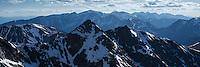 Sprintime view over Tatra mountains from summit of Koscielec (2155m), Poland