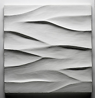Giovanni Barbieri 24x24 inch Boreal carved tile in White.