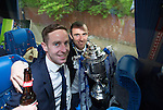 St Johnstone v Dundee United....17.05.14   William Hill Scottish Cup Final<br /> Steven MacLean and Dave Mackay on the journey back to Perth<br /> Picture by Graeme Hart.<br /> Copyright Perthshire Picture Agency<br /> Tel: 01738 623350  Mobile: 07990 594431