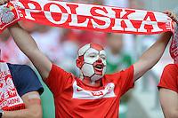 FUSSBALL  EUROPAMEISTERSCHAFT 2012   VORRUNDE Tschechien - Polen               16.06.2012 Polnische Fussball Fans