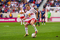 Dax McCarty (11) of the New York Red Bulls. The Chicago Fire defeated the New York Red Bulls 2-0 during a Major League Soccer (MLS) match at Red Bull Arena in Harrison, NJ, on October 06, 2012.