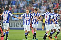 VOETBAL: HEERENVEEN: ABE LENSTRA STADION: 23-08-2013, SC Heerenveen - AJAX uitslag 3-3, Alfreð Finnbogason scoort, ©foto Martin de Jong