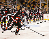 Cody Ferriero (NU - 79) - The Northeastern University Huskies defeated the Boston University Terriers 3-2 in the opening round of the 2013 Beanpot tournament on Monday, February 4, 2013, at TD Garden in Boston, Massachusetts.