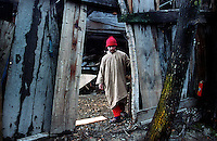 A girl at her home in Srinagar, Kashmir valley, India