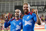 Mcc0055084 . Daily Telegraph<br /> <br /> Neil Fachie and Craig Maclean won Gold in the Men's Sprint B Tandem on Day Three of the 2014 Commonwealth Games in Glasgow .<br /> <br /> 26 July 2014