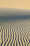 Detail of the movement of the sand dunes under the force of the desert winds, Death Valley, California.