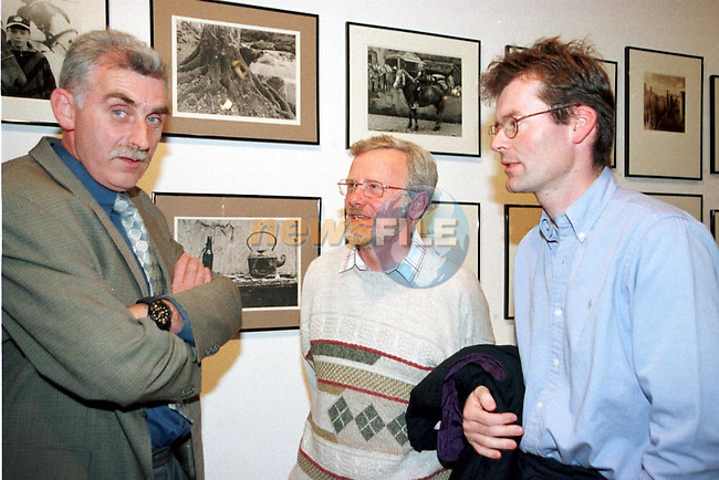 Joe McDermott, David Bryans and Eoin Clarke at the opening of the Drogheda Photographic Exhibation.Pic Fran Caffrey / Newsfile