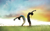 Sky opener, Yoga Photo-illustration