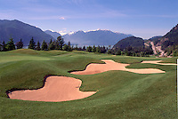 12th Hole, Furry Creek Golf Course near Squamish, BC, British Columbia, Canada - Scenic Coast Mountains along Howe Sound and Hwy 99 (Sea to Sky Highway)